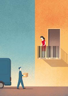 Illustrations for Universal Postal Union on Behance | by Davide Bonazzi