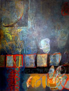 Leslie Allen - Night in Tunisia from Gallery 2 of 9 - Abstract Paintings  Oil and beeswax on canvas 48 x 36