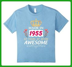 Kids 62 Years Old Birthday Queen Princess Crown T-Shirt Gift 6 Baby Blue - Birthday shirts (*Amazon Partner-Link)