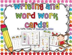 Writing and Word Work Cards - FREE
