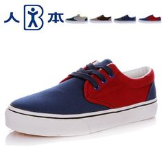 Renben Men Casual shoes Summer Korean Style Chao Low-top Lovers Canvas shoes Female models mixed colors