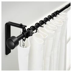 Black Shower Curtain Rod And Rings
