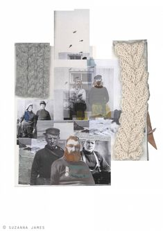 Fashion Moodboard - knitwear design development with knit samples & inspirations // Suzanna James