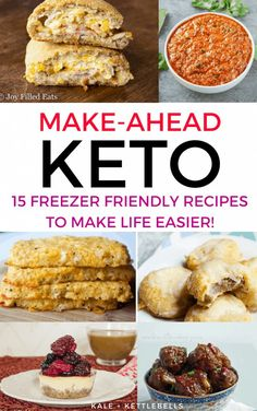 Low Carb Meal Planning: 15 Make Ahead Freezer Friendly Keto Recipes These make ahead keto recipes and freezer friendly, perfect for meal planning on the ketogenic diet. Get your low carb meals organized and your keto freezer stocked. Ketogenic Diet Meal Plan, Ketogenic Diet For Beginners, Diet Plan Menu, Keto Meal Plan, Ketogenic Recipes, Low Carb Recipes, Diet Recipes, Food Plan, Dessert Recipes