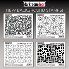 """Handwoven, Daisy Delight, Jigsaw and Crossword Background Stamps by Darkroom Door. Darkroom Door rubber stamps are mounted on cling foam. Completely covers an A6 card front. Darkroom Door rubber stamps are known for their durability, deep etching and high image detail. Size: 110mm x 155mm (4.3"""" x 6.1""""). Cute Cards, Hand Weaving, Doors, Crossword, Creative, Projects, Daisy, Stamps, Deep"""