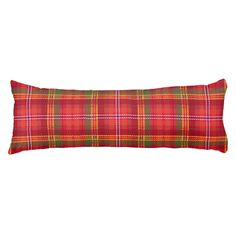 gingham,patchwork,green,red,white,orange,yellow, body pillow