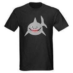 SHARK! Cool tee shirt.