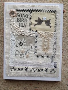 vintage themed lace sampler