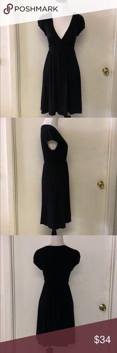 Ella Moss Black V- neck dress. X-Small Simple Ella Moss Black v-neck dress. Perfect for any occasion. Excellent condition. No rips, tares, or pulls. Ella Moss Dresses