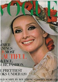 Audrey Hepburn, 1971, age 42, photographed for Vogue UK (April 1971 edition)