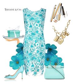 """tiffany"" by principessapaola ❤ liked on Polyvore featuring Tiffany & Co., Precis Petite, Fendi and Manolo Blahnik"