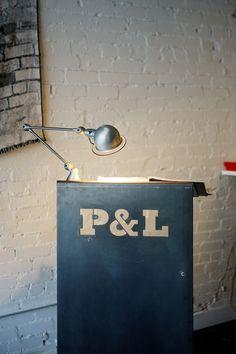 Parts & Labour Restaurant & Club, host station: laser cut steel