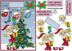 Santas little helper by Bookfoldanddecoupage on Etsy