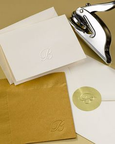 Initial Embosser :: Great gift for newlyweds! (and awesome for DIY weddings) $26