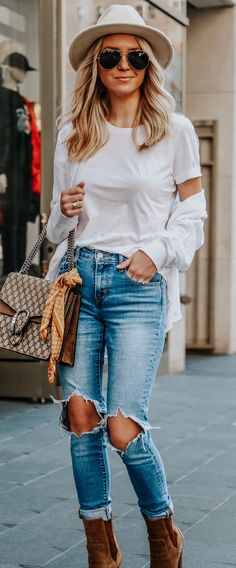 538bbe7fced 13 Best Jeans and t shirt outfit casual images