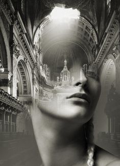 Double exposure portraits by Spanish artist Antonio Mora blending dreamy landscapes and architecture with . Double Exposure Photography, White Photography, Photography Composition, Dslr Photography, Photography Business, Photomontage, Portraits En Double Exposition, Foto Portrait, Multiple Exposure
