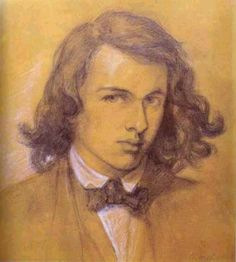Self-portrait of Dante Gabriel Rossetti (1828-1882) in 1847  Poet, artist, and celebrated bohemian.   Founded the Pre-Raphaelite Brotherhood with John Millais and Holman Hunt  both better painters, though  DGR's  graphic work was extremely good.   His poetry is under-appreciated but first rate.  His sister Christina Rosetti was also a remarkable poet.