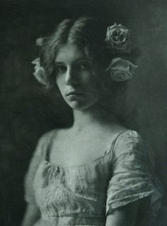 """Rosa Rosarum,"" 1901.  Photo by Mathilde Weil, one of the first successful American women photographers to devote her talents to portraiture amid home surroundings."