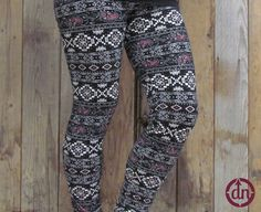 We call them date night because these leggings are fun, funky and have that little splash of flirty sass with bold burgundy flashes throughout.