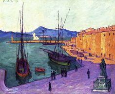 Port of Saint-Tropez, Evening Effect, 1909, Francis Picabia Size: 101x81.2 cm Medium: oil, canvas