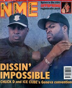 Chuck D and Ice Cube (NME Magazine,1994)