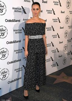 Chic: Katy Perry looked phenomenal as she attended the Capitol Records' 75th Anniversary Gala in Hollywood on Tuesday