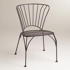 Black Metal Cadiz Chairs, Set of 2