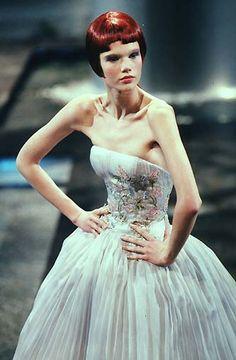 1998 - Alexander McQueen 4 Givenchy Couture show - @vintageclothin.com