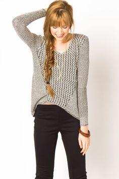 Melange Pullover Sweater