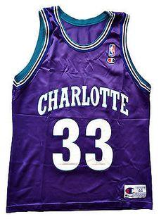 13e23d82676 Alonzo Mourning Charlotte Hornets Replica Jersey - 44 L