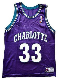 Alonzo Mourning Charlotte Hornets Replica Jersey - 44/L