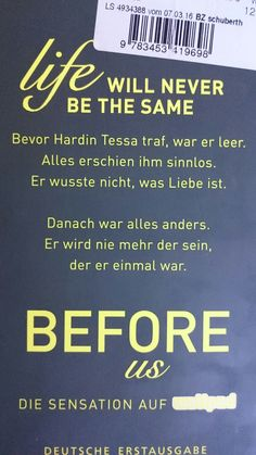 Before us - life will never be the same 😇