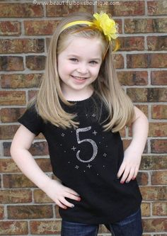 This listing is for the rhinestone shirt pictured in your choice of color and size with the rhinestone saying How perfect for a birthday party! The words ar. Tutu, Shirts For Girls, Girl Shirts, Birthday Shirts, 5th Birthday, Big Hair Bows, Rhinestone Shirts, Baby Headbands, Baby Dress