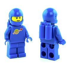 New Lego Blue Classic Space Man Minifigure Astronaut Spaceman Re-release