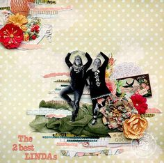 Divine Paper Collection layout by Brit Sviggum for Prima! www.prima.typepad.com