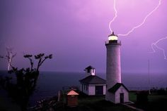 Lighthouse With Lightning