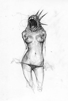 Sketchbook by Wesley Eggebrecht, via Behance Paul Klee, Art Sketches, Art Drawings, Weird Creatures, Monster, Figure Drawing, Figurative Art, Dark Art, Line Art