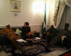 Ogun State Governor, Ibikunle Amosun visits president Buhari in London