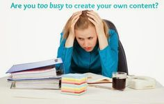 zhannadesign: Too Tired & Busy to Create Content?