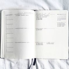 This monochromatic wonder: | 24 Minimalist Bullet Journal Layouts That'll Get You Hard