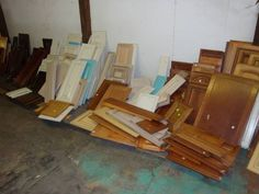 HOOD'S West Alton, Missouri has a large quantity of Cabinet Parts. These parts come in all sizes, & thicknesses, (mostly wood grain in appearance). These are great for shelves or small building projects.  We provide the materials for you to build your own one of a kind cabinet. We also have cabinet doors, many finishes, and sizes (all solid wood). Cabinet Parts, Small Buildings, Build Your Own, Cabinet Doors, Wood Grain, Missouri, Solid Wood, Shelves, Kitchen