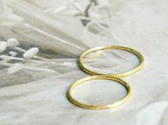 Freundschaftsringe - Eheringe aus fair gehandeltem Gelbgold 750 - ein Designerstück von KatjaGold bei DaWanda