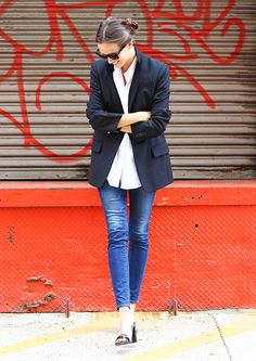 Jeans blazer and it is so.
