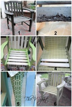 Chair mod podged with fabric