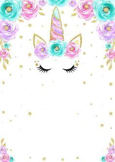 Unicorn Print and Fill Einladungen: Kostenlos - Gar Unicorn Themed Birthday, Unicorn Birthday Invitations, Unicorn Art, Rainbow Unicorn, Unicorn Drawing, Unicorn Wallpaper Cute, Unicornios Wallpaper, Rainbow Invitations, Party Invitations