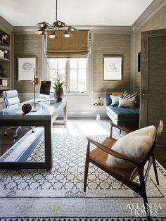 Chastain Park residence. Brian Watford ID, Atlanta interior designer, GA. Erica George Dines photo in Atlanta Homes & Lifestyles.