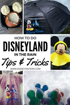 Rainy Day at - Don't Panic! We've created 'The Ultimate Rainy Day Guide to Disneyland Resort! Disneyland In The Rain, Downtown Disney, Disneyland Resort, Disney Parks, Three Sisters, Don't Panic, France, Paris, Day