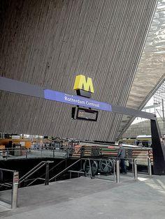 Rotterdam central subway station