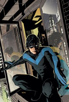 NIGHTWING #133 / Cover by Ryan Sook /     A new story arc exploring the lost year of Dick Grayson's life, after he dropped out of college and before the New Teen Titans formed! It's the year that changed his life, during which he made a fateful decision. Now a friend, a foe, and a love from the past have returned from the darkness to haunt him!