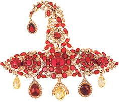 "Magnificent Ruby and Diamond Sarpech from ""The Nizam of Hyderabad and his Jewels"""